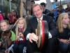 An Taoiseach, Enda Kenny enjoying himself with talented local musicians at the launch of the 2011 Fleadh Cheoil na hEireann 2011 in Cavan on Monday evening.  Photo: Lorraine Teevan