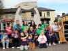 Cavan Comhaltas musicians gather in the Market Square, Cavan on Saturday morning for an Irish seisiun to kick off the 2011 Fleadh Cheoil na hEireann which will be taking place in the county town for the next 10 days.  Photo: Lorraine Teevan