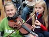 Talented young Cavan musicians enjoying the Ceol agus Craic at the launch of the 2011 Fleadh Cheoil na hEireann in Cavan on Monday evening.  Photo: Lorraine Teevan