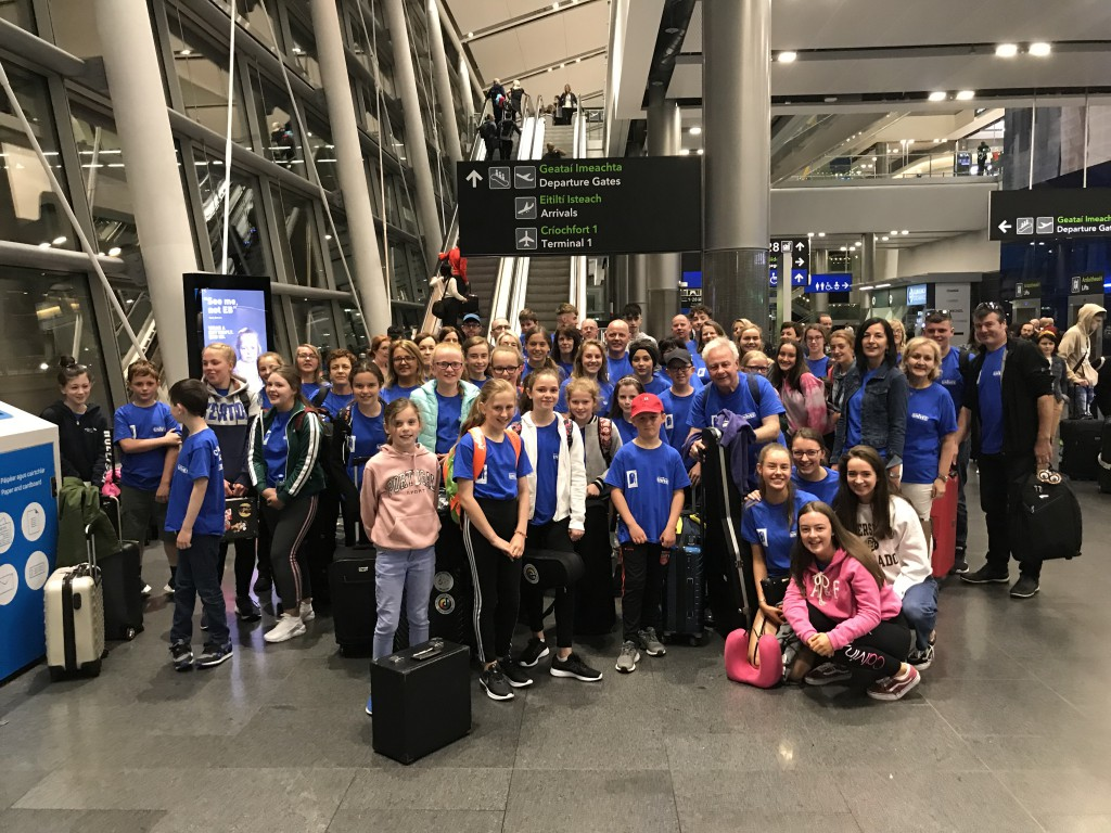 At Dublin Airport ready for departure